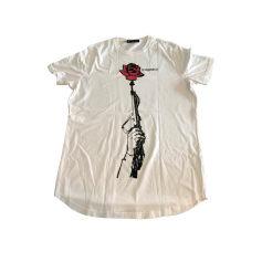 T-shirt DSQUARED2 Bianco, bianco sporco, ecru
