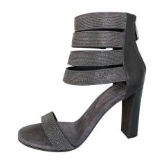 Sandali con tacchi BRUNELLO CUCINELLI Grigio, antracite