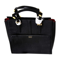 Leather Handbag GIORGIO ARMANI Black