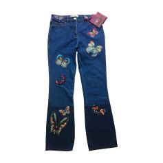 Straight Leg Jeans VALENTINO Blue, navy, turquoise