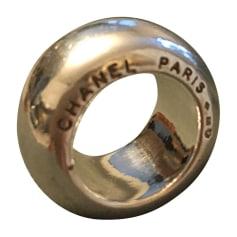 Anello CHANEL Argentato, acciaio