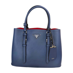 Leather Handbag PRADA Blue, navy, turquoise