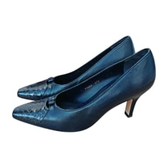 Pumps, Heels SALVATORE FERRAGAMO Blue, navy, turquoise