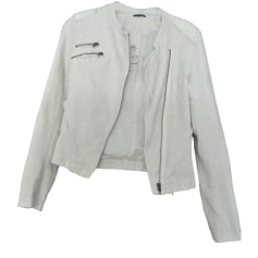Zipped Jacket IKKS White, off-white, ecru