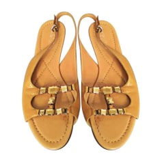 Flat Sandals SERGIO ROSSI Yellow