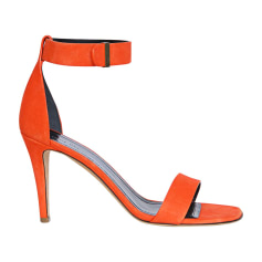 Sandales à talons CÉLINE Orange