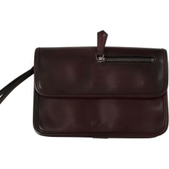 Satchel BERLUTI Red, burgundy