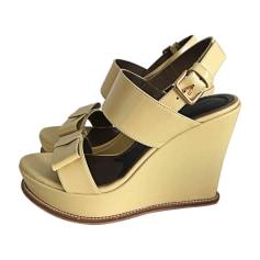 Sandales compensées MARNI Bambou (jaune pâle)