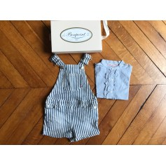 Shorts Set, Outfit BONPOINT Blue, navy, turquoise