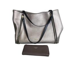 Leather Handbag GUESS Golden, bronze, copper