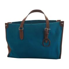 Sac à main en tissu RALPH LAUREN Bleu, bleu marine, bleu turquoise