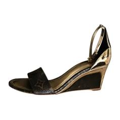 Wedge Sandals LOUIS VUITTON or/marron