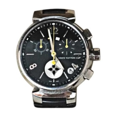 Armbanduhr LOUIS VUITTON Silberfarben, stahlfarben