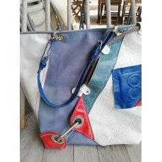 Sac à main en cuir BARBARA RIHL Bleu, bleu marine, bleu turquoise