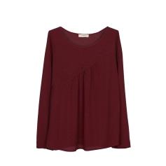 Top, T-shirt BA&SH Purple, mauve, lavender