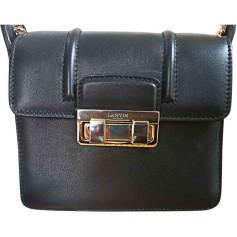 Leather Shoulder Bag LANVIN Black