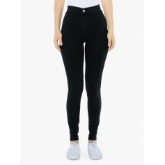Pantalon slim, cigarette AMERICAN APPAREL Noir