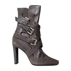 Bottines & low boots à talons MANOLO BLAHNIK Gris, anthracite