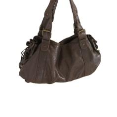 Leather Handbag GERARD DAREL Brown
