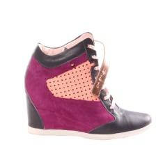 Chaussures De Sport Pour Les Femmes En Vente, Blanc, Cuir, 2017, 35 36 37 38 40 Msgm