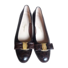 Ballerines SALVATORE FERRAGAMO Marron