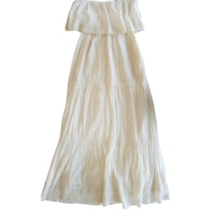 Maxi Dress BA&SH White, off-white, ecru
