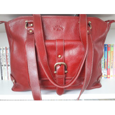 8cef201b28 Leather Shoulder Bag KATANA Red