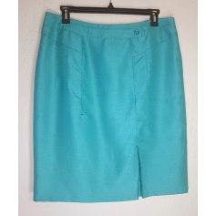 Jupe mi-longue CHRISTINE LAURE Bleu, bleu marine, bleu turquoise