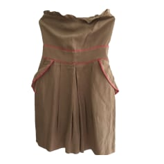 Corset Dress SANDRO Beige, camel