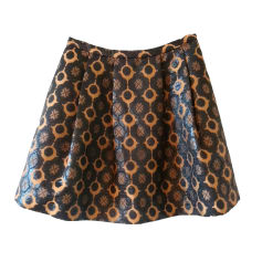 Mini Skirt TARA JARMON Golden, bronze, copper