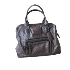 Leather Handbag LONGCHAMP Brown