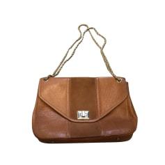 Leather Shoulder Bag SÉZANE Beige, camel