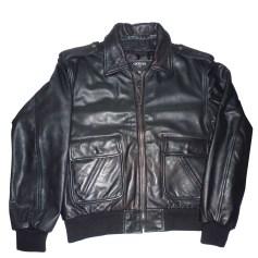Leather Zipped Jacket GIORGIO Black