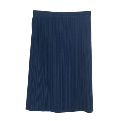 Mini Skirt PLEATS PLEASE Blue, navy, turquoise