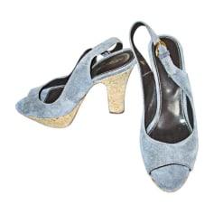 Escarpins à bouts ouverts SERGIO ROSSI Bleu, bleu marine, bleu turquoise