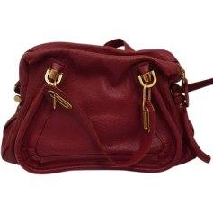 Leather Handbag CHLOÉ Red, burgundy