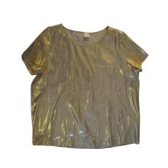 Top, T-shirt DES PETITS HAUTS Golden, bronze, copper