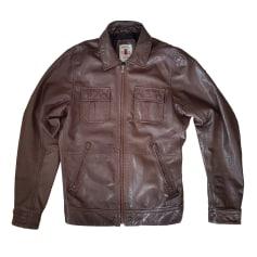 Leather Jacket DIESEL Brown