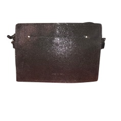 Leather Shoulder Bag NAT & NIN Black