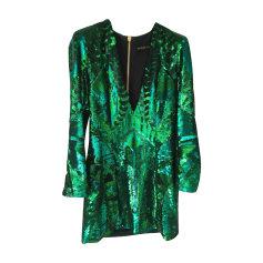 Robe courte BALMAIN X H&M Vert