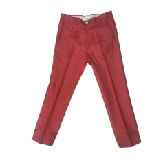Pantalon droit TOM FORD Rouge, bordeaux