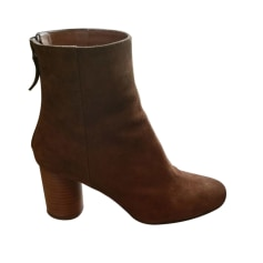 High Heel Ankle Boots SANDRO Beige, camel