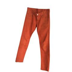 Straight Leg Pants DSQUARED2 Rouille