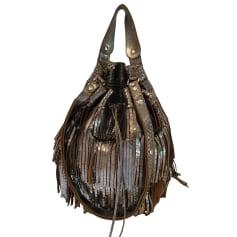 Leather Handbag GERARD DAREL Silver