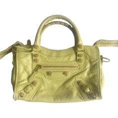 Leather Clutch BALENCIAGA Green