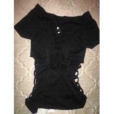 Top, tee-shirt AQUA Noir