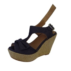Wedge Sandals CLAUDIE PIERLOT Blue, navy, turquoise