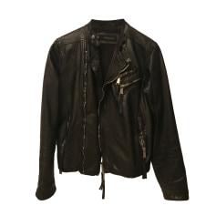 Leather Jacket DSQUARED2 Black