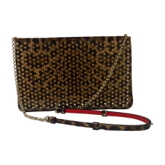 Borsa a tracolla in pelle CHRISTIAN LOUBOUTIN Stampe animalier