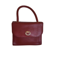 Leather Handbag LONGCHAMP Red, burgundy